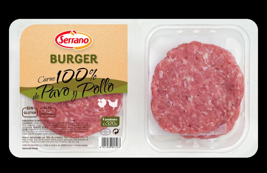Burger 100% de Pavo y Pollo