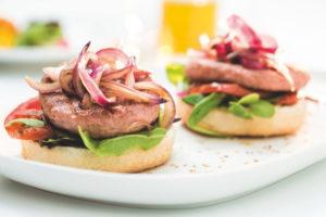 Montadito de Burger Carne 100% de Pavo y Pollo