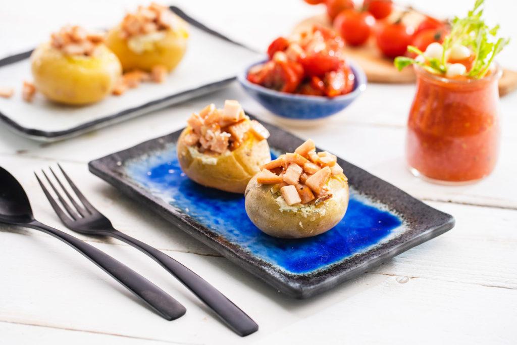 Patatas rellenas de Pechuga de Pavo Sajonia de Un Momento y Listo
