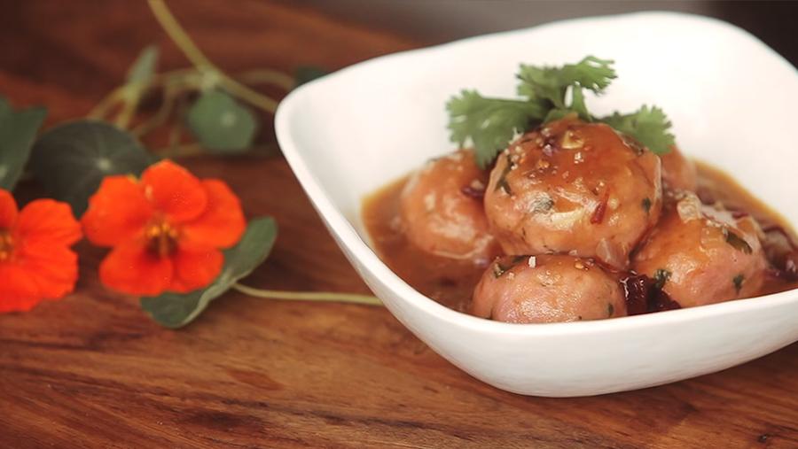 Albondigas de Picada Carne 100% de Pavo y Pollo en salsa chipotle