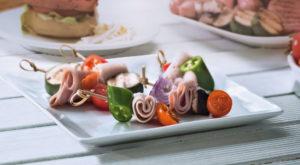 Brochetas de Pechuga de Pavo Bon Appétit reducido en sal, con verduras