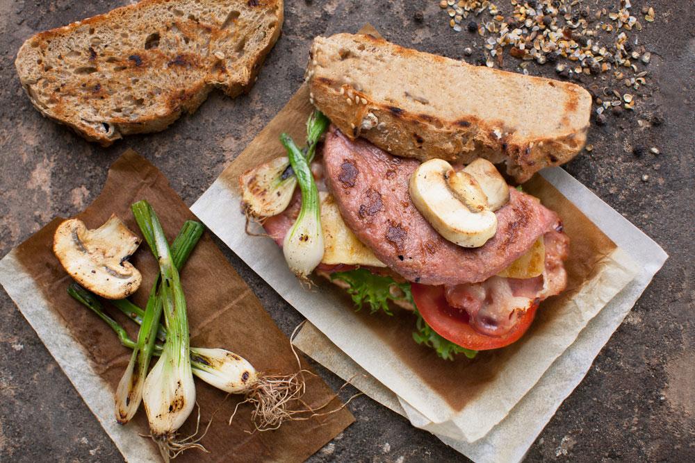 Tosta de Burger Carne 100% de Pavo y Pollo