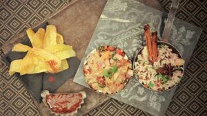 Lomo de Pavo de Un Momento y Listo al estilo Indio con arroz salvaje