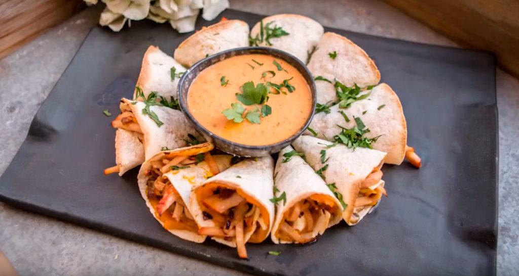 Quesadilla de Pechuga de Pavo de Un Momento y Listo con calabaza y queso fresco.