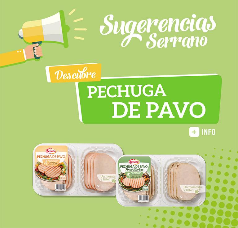 Sugerencias Serrano Pechuga de Pavo Finas Hierbas